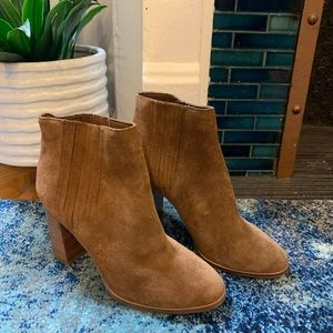 Joie camel colored suede booties